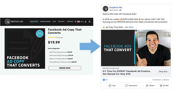 Facebook Remarketing Example