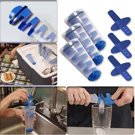 Multifunctional ice cube making tool (Set of 3)