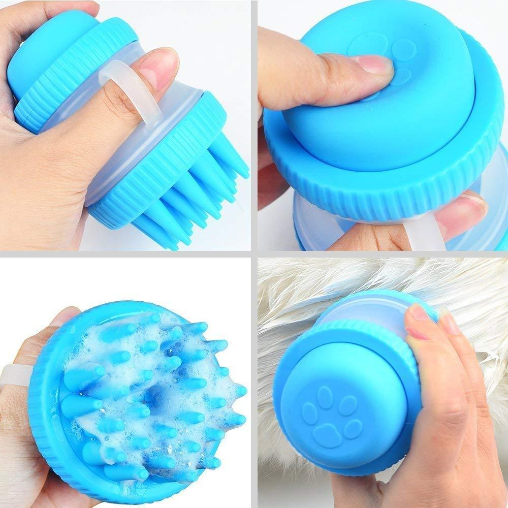 PET BATH MASSAGER BRUSH
