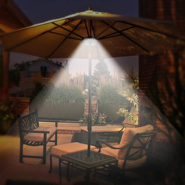 Patio Umbrella Light 3 Brightness Modes Cordless 28 LED Lights at 200 lumens