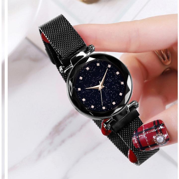 Fashion Star Watch With Unique Magnet Lock(Gift-giving)