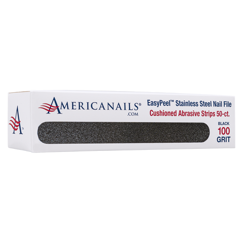 Americanails EasyPeel Cushioned Abrasive Strips (100 Grit Black) 50ct