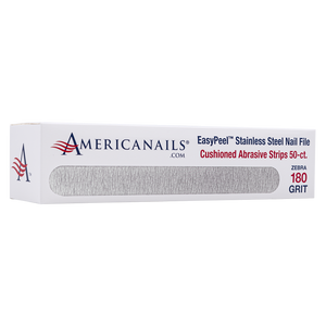 Americanails EasyPeel Cushioned Abrasive Strips (180 Grit Zebra) 50ct