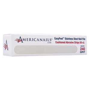 Americanails EasyPeel Cushioned Abrasive Strips (240 Grit White) 50ct
