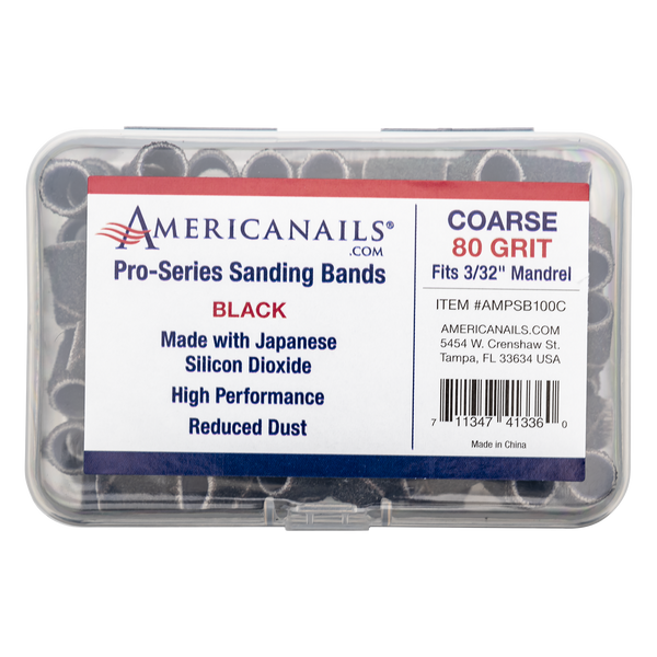 Americanails Pro-Series Black Sanding Bands 100ct