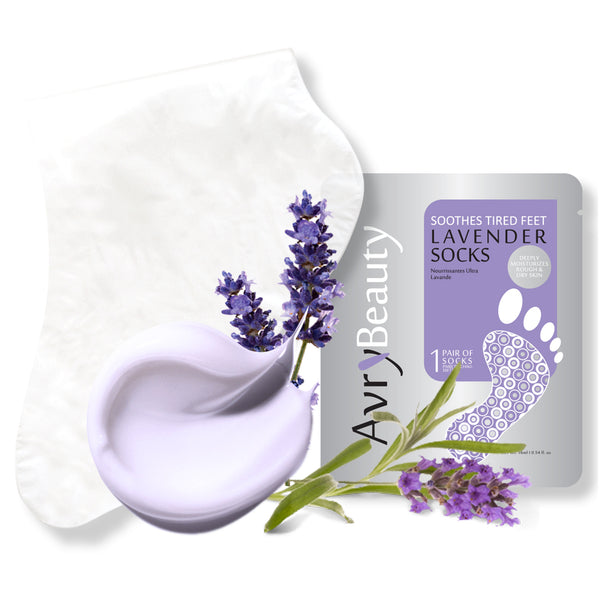 AvryBeauty Waterless Pedicure Socks (Lavender)