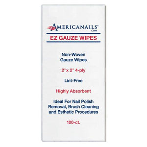 Americanails EZ Gauze Nail Wipes 100ct