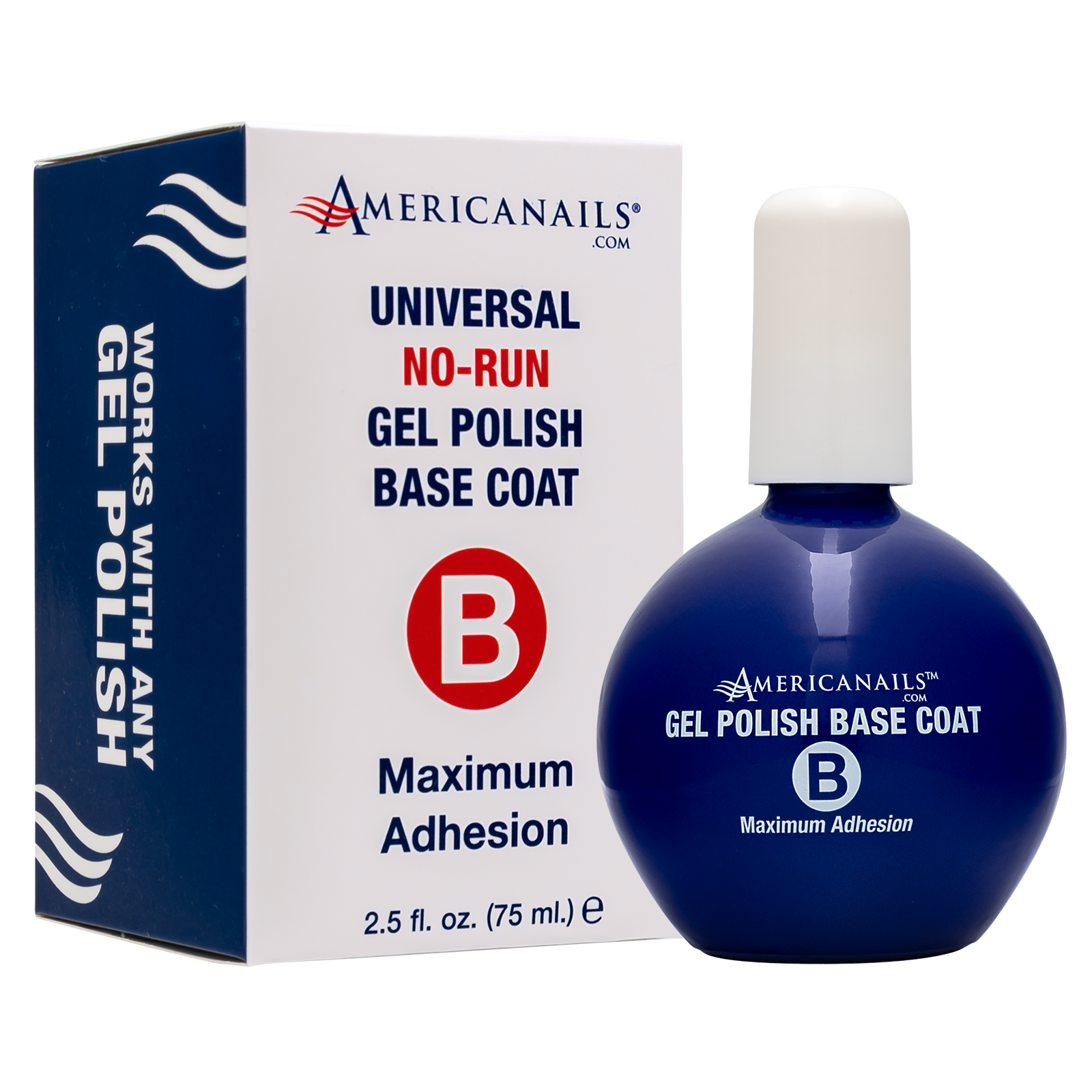 Americanails No-Run Gel Polish Base Coat Pro Size (2.5oz)