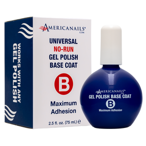 Americanails No-Run Gel Polish Base Coat, Pro Size 2.5oz