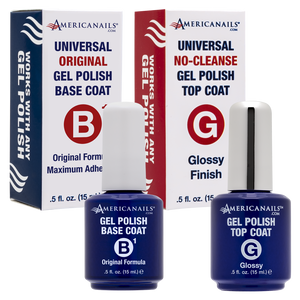 Americanails No-Cleanse Gel Base + Top Coat Duo, .5oz