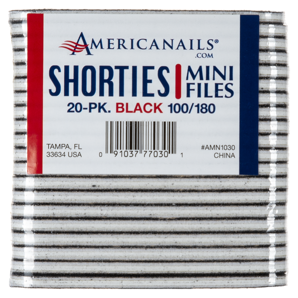 Americanails Shorties Mini Cushioned Files 20ct