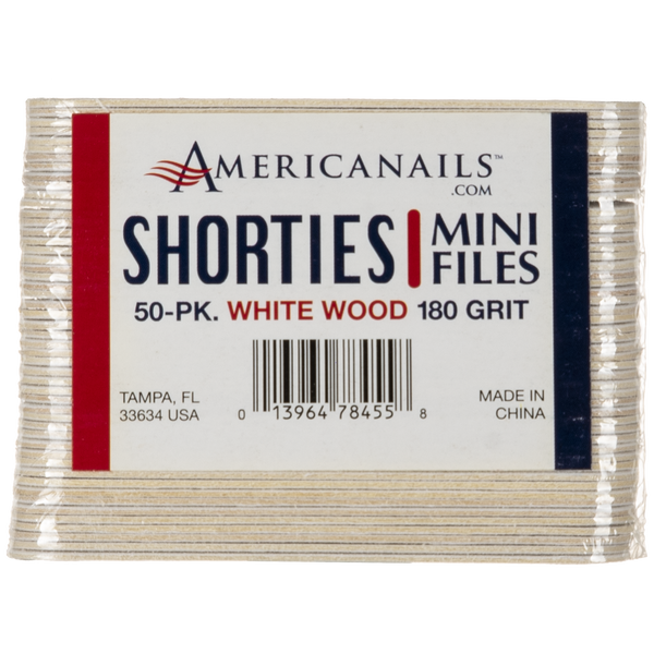 Americanails Shorties Mini White Boards 50ct