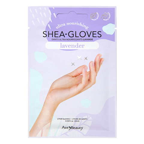 AvryBeauty Waterless Manicure Shea Butter Gloves | Lavender