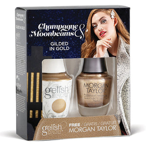 Gelish Morgan Taylor | Gilded In Gold Duo Kit