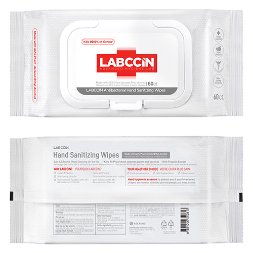 Antibacterial Hand Sanitizing Wipes 60ct