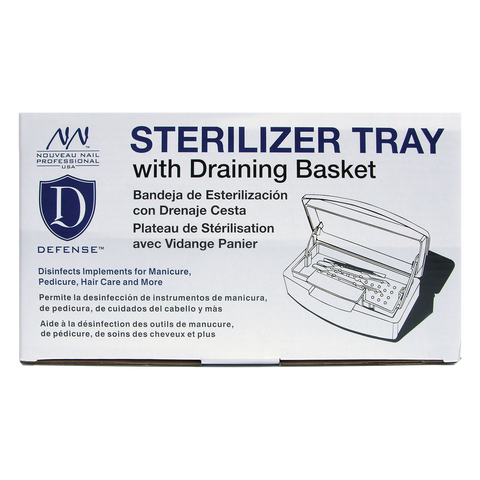 Nouveau Nail Sterilizer Tray With Draining Basket
