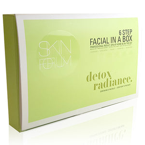 SFglow 6 Step Facial In A Box | Detox + Radiance, 3ct