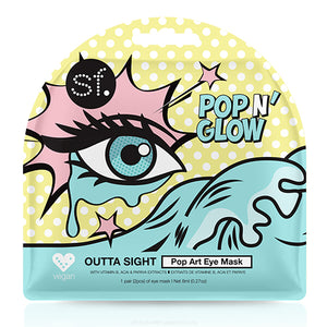 SFglow Pop N' Glow Outta Sight | Eye Sheet Mask, 3ct