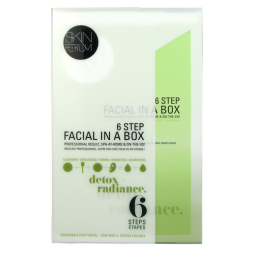 SFglow 6 Step Facial In A Box | Detox + Radiance