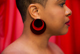 Full Moon Earrings (Red)