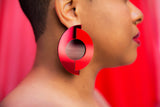 Cyclone Earrings (Red)