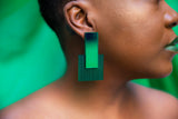 Door Knocker Earrings (Green)