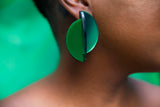Half Moon Earrings (Green)