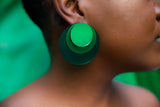 Full Moon Earrings (Green)