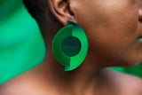 Cyclone Earrings (Green)