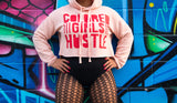 Colored Girls Hustle Crop Fleece Hoodie
