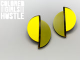 Half Moon Earrings (Yellow)