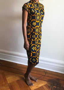 Vintage Asia + Africa Dress, Size Small