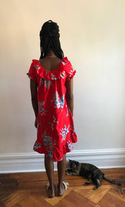 Hawaiian Dress Size Small // Vintage Penneys Hawaii Dress Small