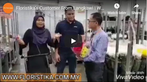 Customer from Langkawi Purchasing Fresh Cut Flowers in Floristika