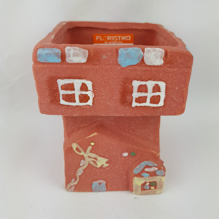 House Clay Vase - Orange