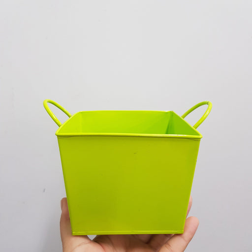 Metal Pot - Lime Green