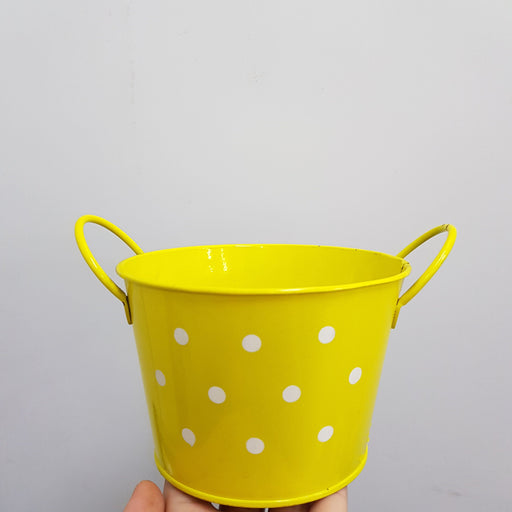 Metal Pot - Yellow