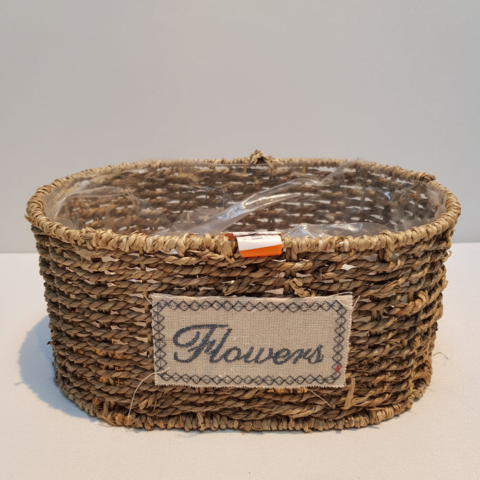 Rattan Oval Basket (S) (Imported) - Brown