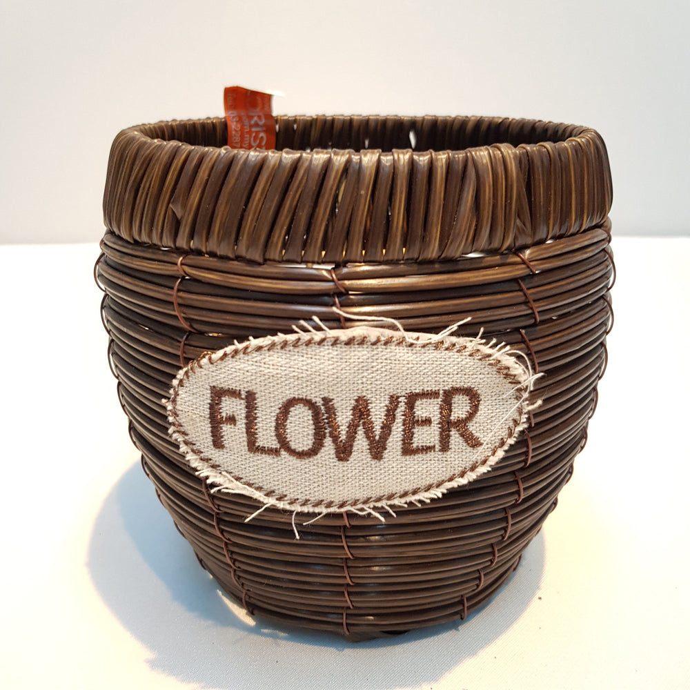 Rattan Round Basket (S) (Imported) - Dark Brown