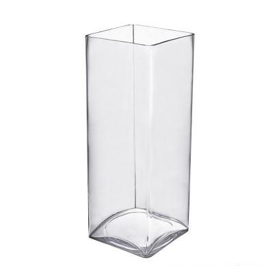 Glass Square Vase 12x30cm (Imported)