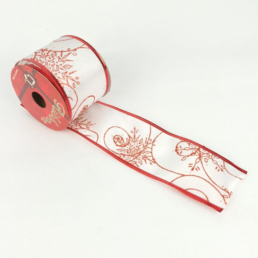 Xmas Ribbon 003 (Imported) - White Red