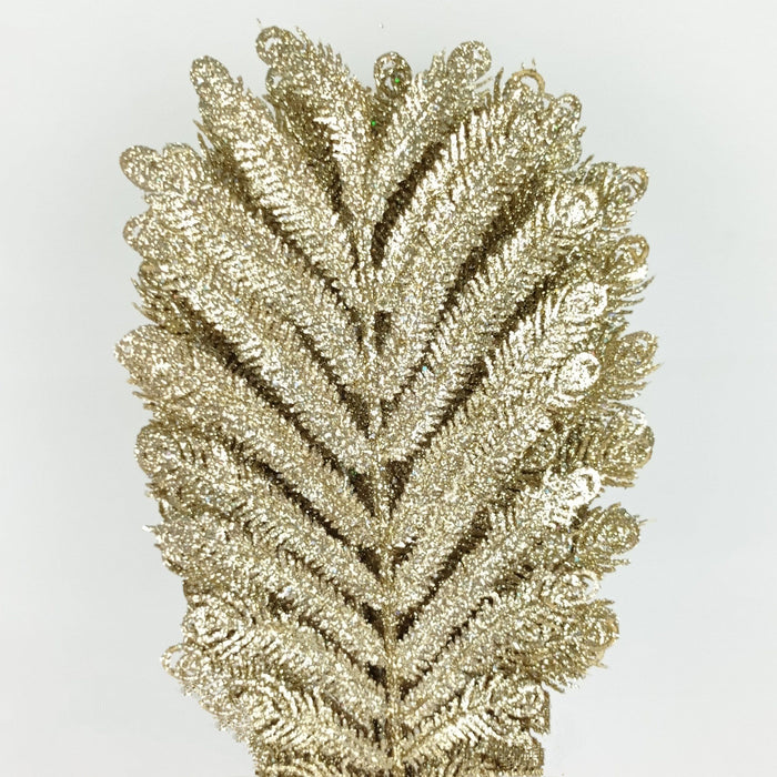 Xmas Palm Fronds Gold (Imported) - Gold