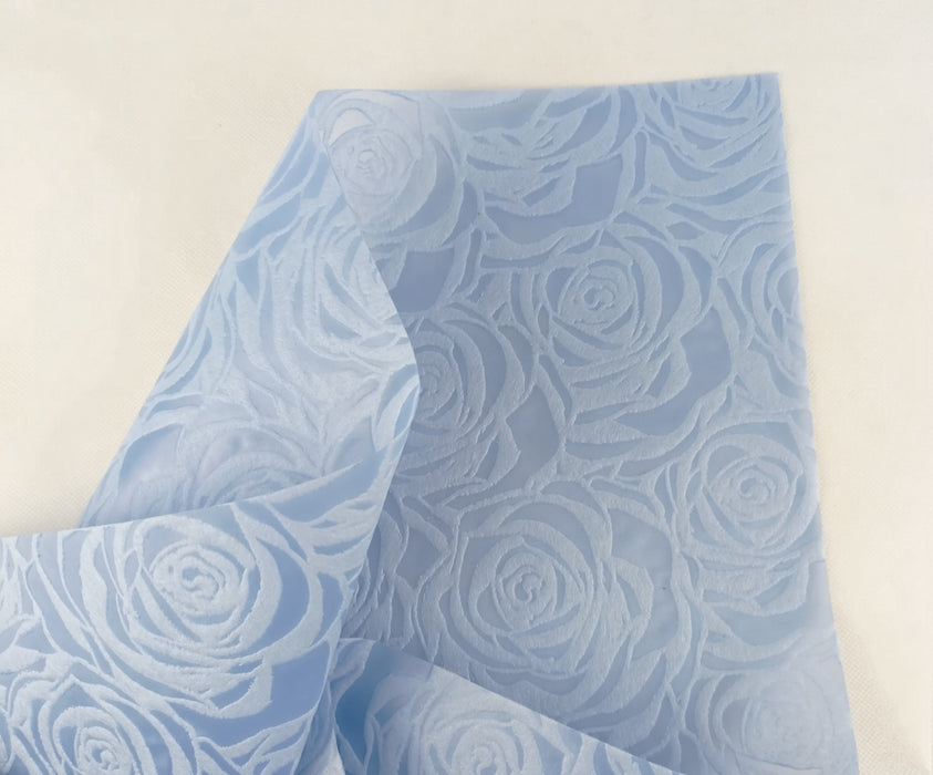 Rose Pattern Non-Woven Paper 25Pcs (Local) - Light Blue