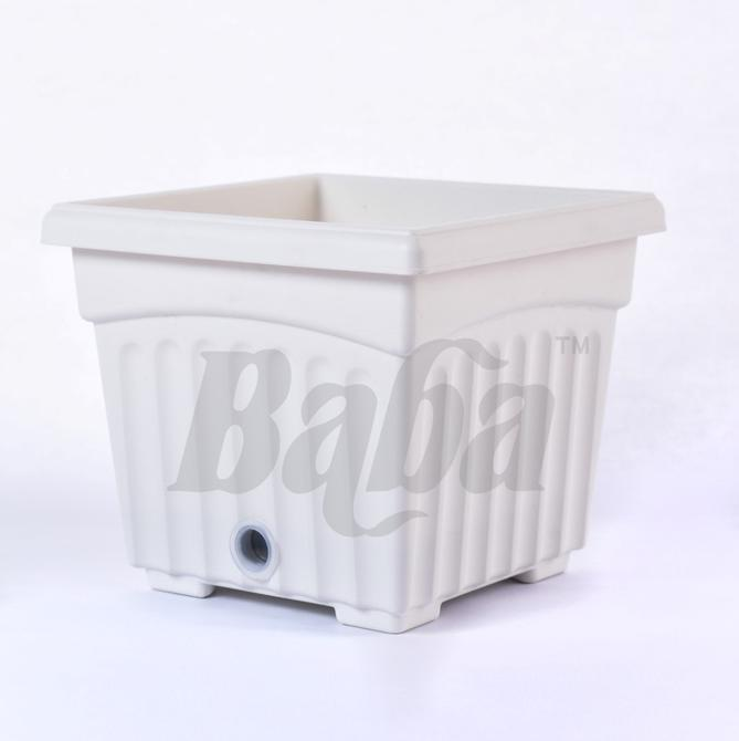 BABA Bi-Sq 200 Pot White