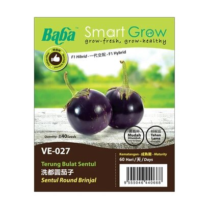 BABA Ve-Mix Seeds - Sentul Round Brinjal