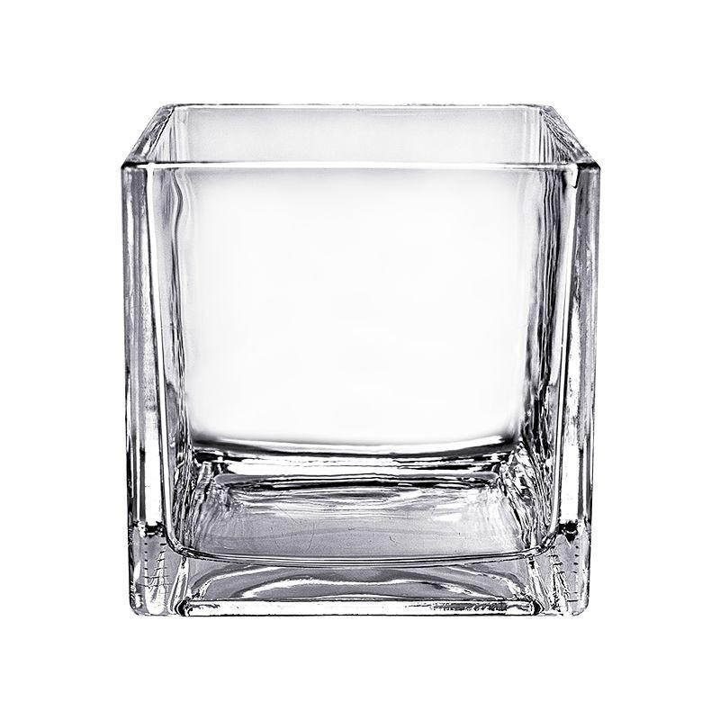 Glass Square Vase 10x10cm (Imported)