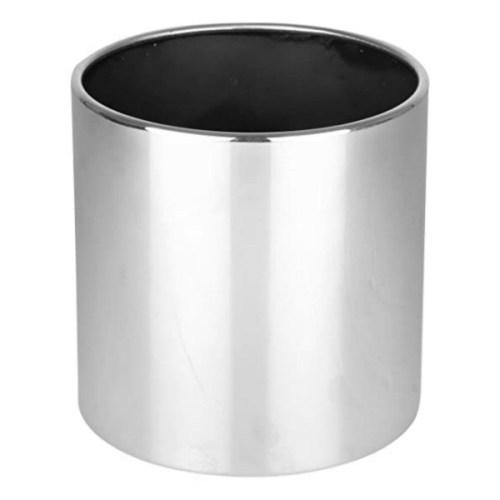 Ceramic Silver Cylindrical Pot (M)