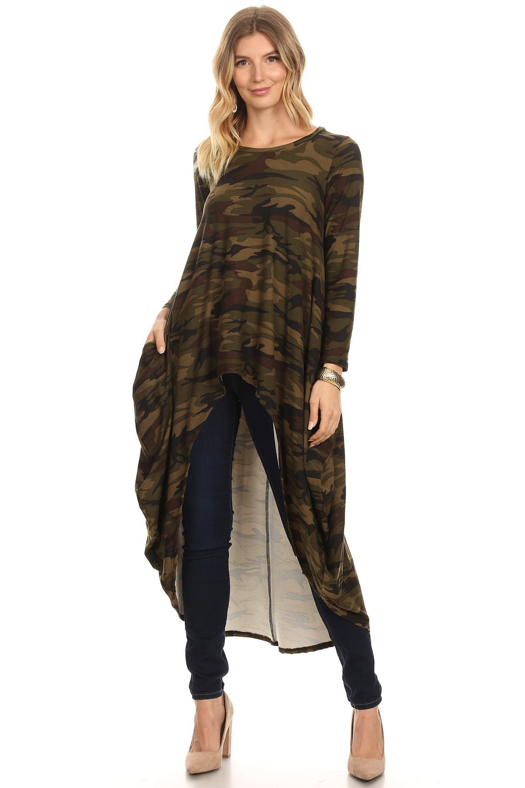 Hi/Low Tunic - Camo