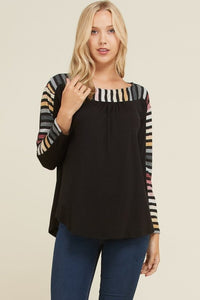 Striped Edge Top