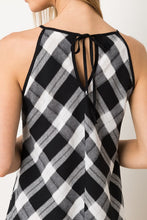 Plaid Halter Dress